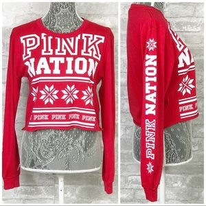 NEW VICTORIA'S SECRET PINK Christmas Holiday Tee